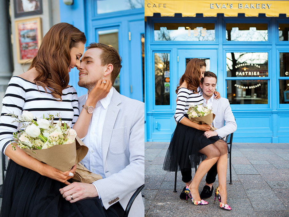 Paris - Chic - Downtown Salt Lake - Engagement Outfits - Wedding photography - Ashley DeHart Photography