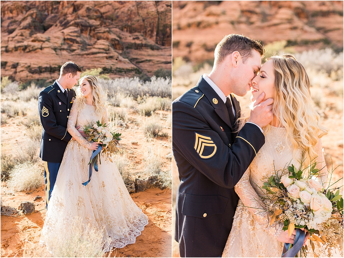 Snow Canyon | Ashley DeHart Photography | Utah Wedding Photographer