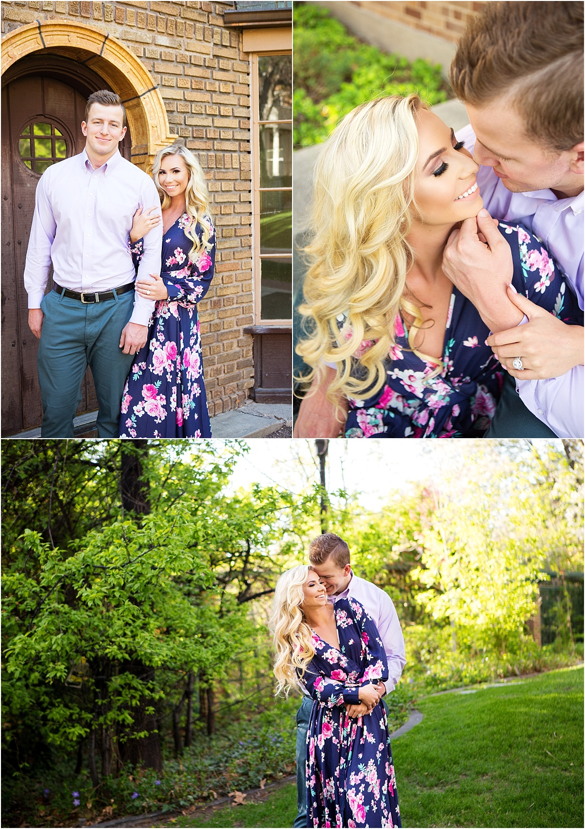 Salt Lake City Engagements | Utah Wedding Photographer | Garden Park Ward