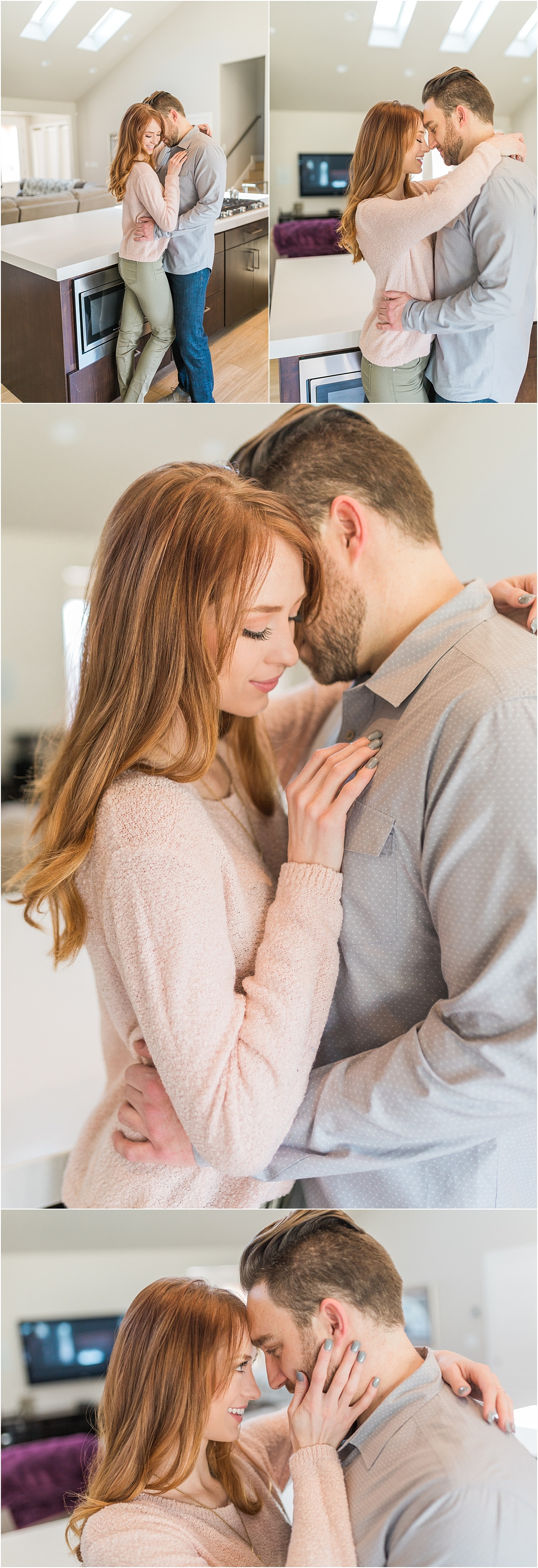 Salt Lake City Couples Session | In-home Lifestyle Photography, Utah