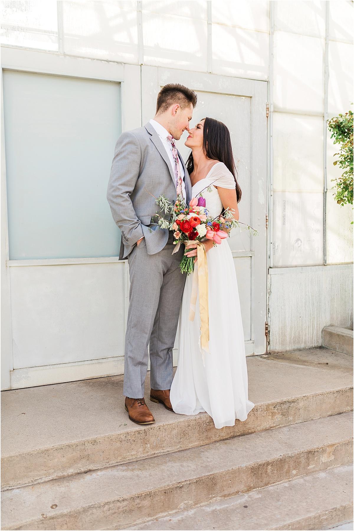 Formal session in Salt Lake City, Utah at Liberty Park | Utah Wedding Photographer
