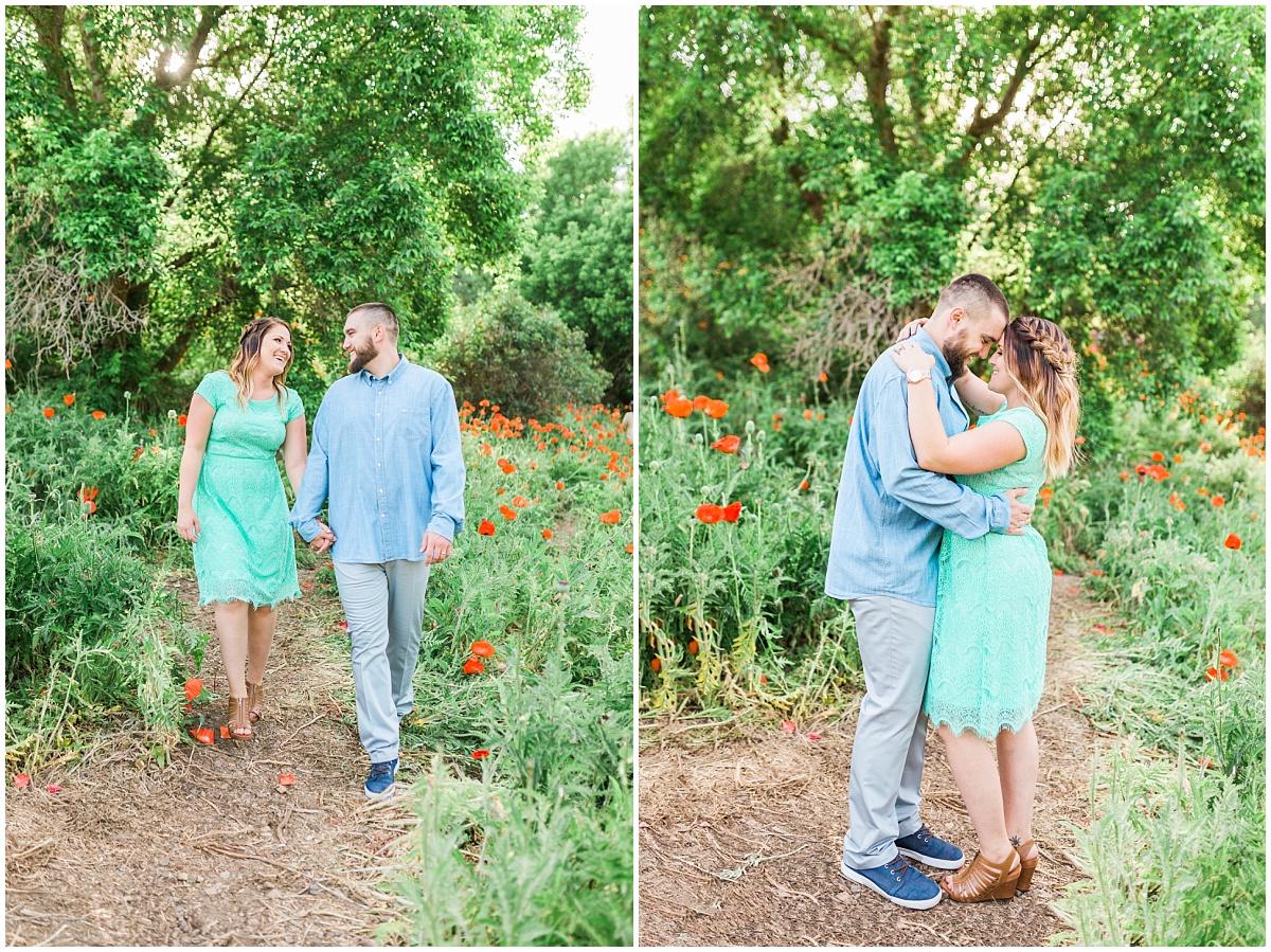 Mantua Utah Poppy Field Engagement Session | Ashley DeHart Photography